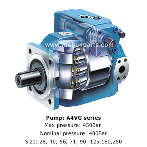 Rexroth Hydraulic Piston Pump A4VG90DWDMT1/32R-NSC02F023P Used for Crawler Crane,Construction Machinery