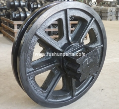 Front Idler Rollers Undercarriage Parts For Fushun QUY80 Crawler Crane